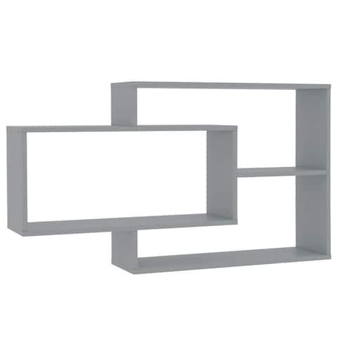 "vidaXL Wall Shelves Gray 40.9""x9.4""x23.6"" Chipboard"