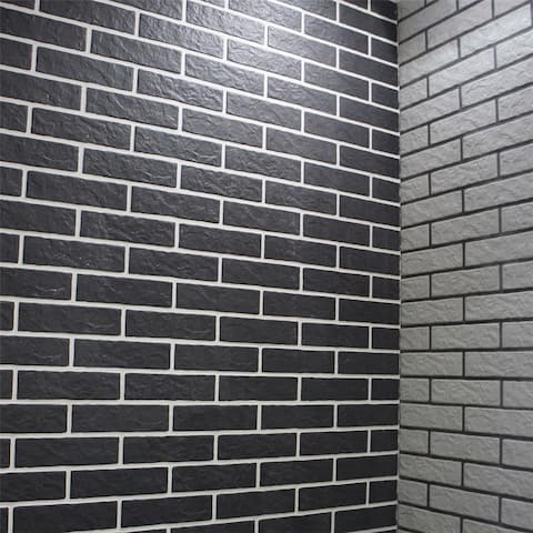 SomerTile 3.125x11.375-inch Opere Black Porcelain Floor and Wall Tile (48 tiles/13.1 sqft.)