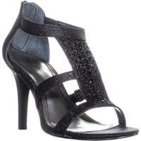 SC35 Pacina Peep Toe Heels, Black