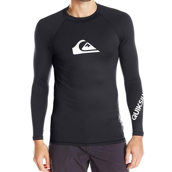 736d994a Shop Quiksilver Black Mens Size Small S Rashguard Swim Shirt UPF 50+ - Free  Shipping On Orders Over $45 - Overstock - 27885296