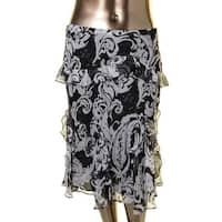 Lauren Ralph Lauren Womens Tiered Skirt Chiffon Printed