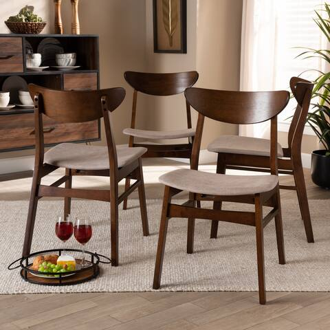 Parlin Mid-Century Modern Transitional 4-Piece Dining Chair Set