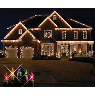 Christmas at Winterland WL-IC100-M 100 Light Incandescent Multicolor Icicle Stri