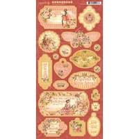 "Princess Chipboard Die-Cuts 6""X12"" Sheet-Decorative & Journaling"