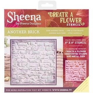 """Another Brick - Sheena Douglass Create A Flower Stencil 8""""X8"""""""