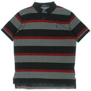Polo Ralph Lauren Mens Striped Pique Polo Shirt