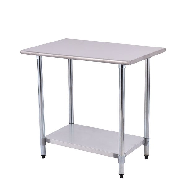 Shop Costway 24\'\' x 36\'\' Stainless Steel Work Prep Table Commercial ...