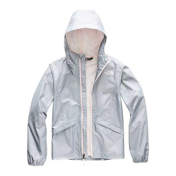 1db3e19cf689 Shop The North Face Girls  Zipline Waterproof Rain Jacket Mid Grey - Free  Shipping Today - Overstock - 27508416