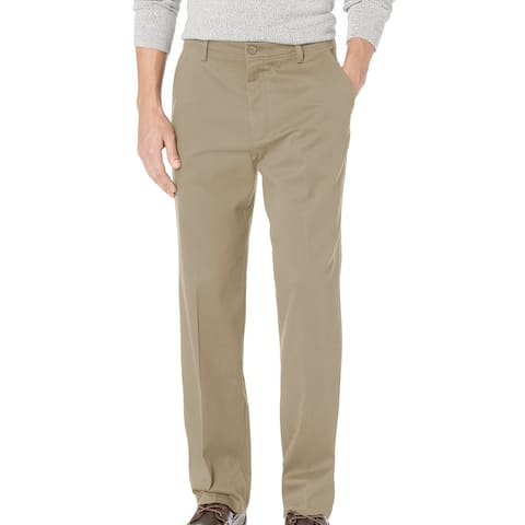 Dockers Mens Khaki Pant Beige Size 40X30 Classic Fit Non-Wrinkle Stretch