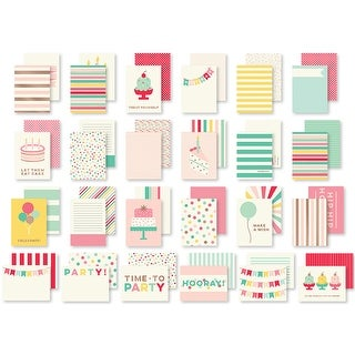 Hooray Double-Sided Journal Cards 24/Pkg-W/Rose Gold Foil Accents
