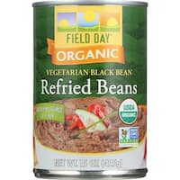 Field Day Beans - Organic - Vegetarian - Refried - Black - 15 oz - case of 12
