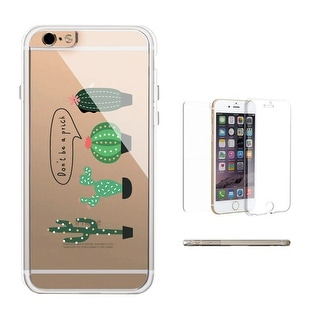 360° Protection Cactus Don't Be A Prick Clear iPhone Transparent Phone Case