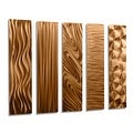Statements2000 Set of 5 Copper Metal Wall Art Accents by Jon Allen - 5 Easy Pieces Copper - Thumbnail 8
