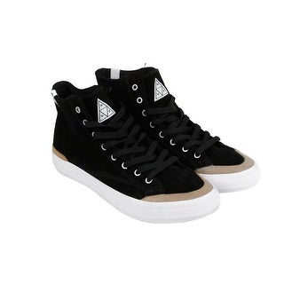 HUF Classic Lo Mens Black Suede Lace Up Sneakers Shoes