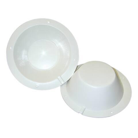 """Poly-Planar 8-&#189""""; Speaker Back Cover - White"""