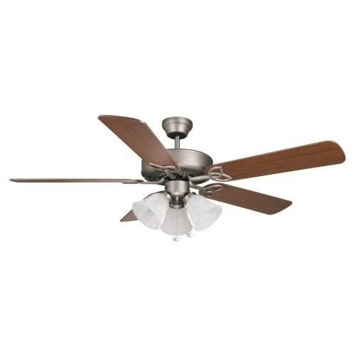 "Ellington Fans Builder Deluxe Builder 52"" 5 Blade Indoor Ceiling Fan - Blades and Light Kit Included"