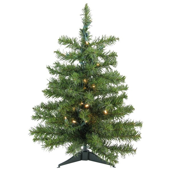 Lead Free Christmas Trees: Shop 2' Pre-Lit LED Natural Two-Tone Pine Artificial