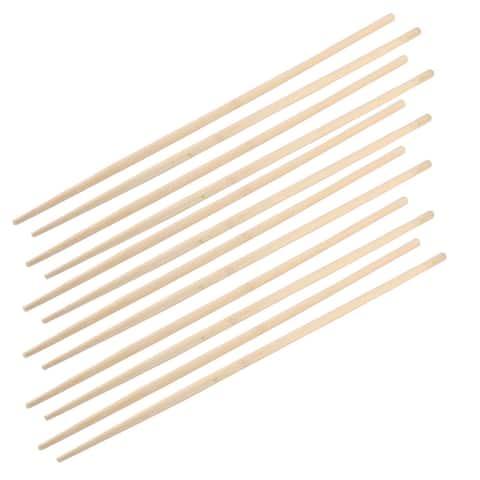 Wooden Clip Kitchen Restaurant Noodles Chopsticks 45cm Long 6 Pairs
