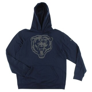 Nike Mens Chicago Bears NFL Reflective Hoodie Navy - Navy/Silver - L