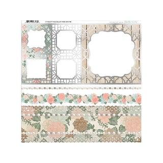 Bo Bunny Felicity Paper 12x12 Foil Vellum