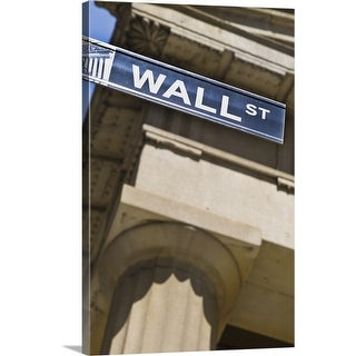 """Wall Street sign"" Canvas Wall Art"