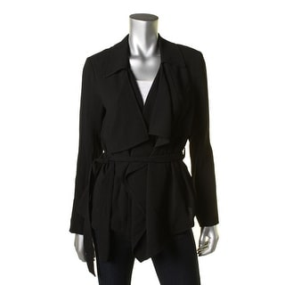 Vince Camuto Womens Drop Front Belted Jacket