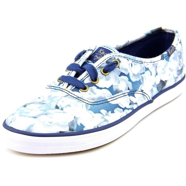 Keds Floral Print Women  Round Toe Canvas Blue Sneakers