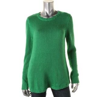 Lauren Ralph Lauren Womens Crew Neck Long Sleeves Pullover Sweater