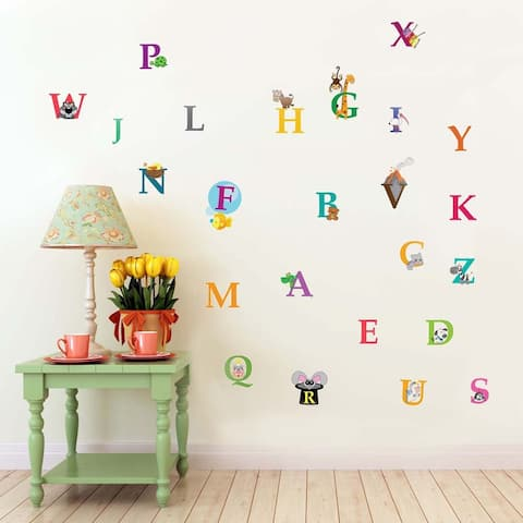 Walplus Kids Learning Alphabets Wall Sticker Nursery Decor Art Decal