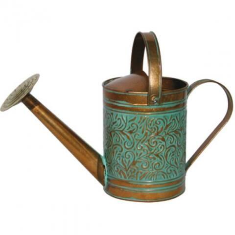 Robert Allen MPT01186 Morgan Metal Watering Can, Copper & Patina, 1-Gallon
