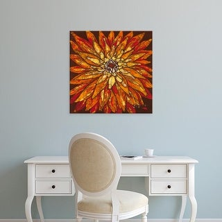 Easy Art Prints Andrea Davis's 'Fire Bloom IV' Premium Canvas Art