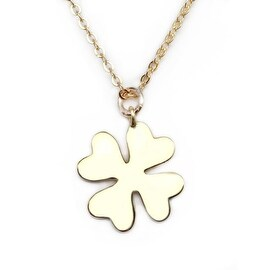 "Julieta Jewelry Clover Gold Charm 16"" Necklace"