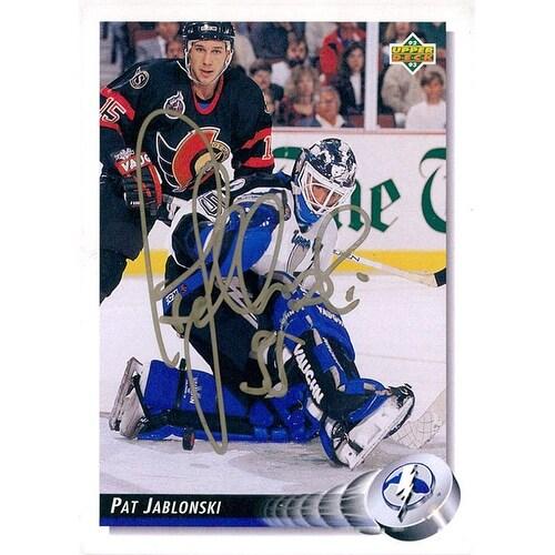 info for e6863 86166 Signed Jablonski Pat Tampa Bay Lightning 1992 Upper Deck Hockey Card  autographed
