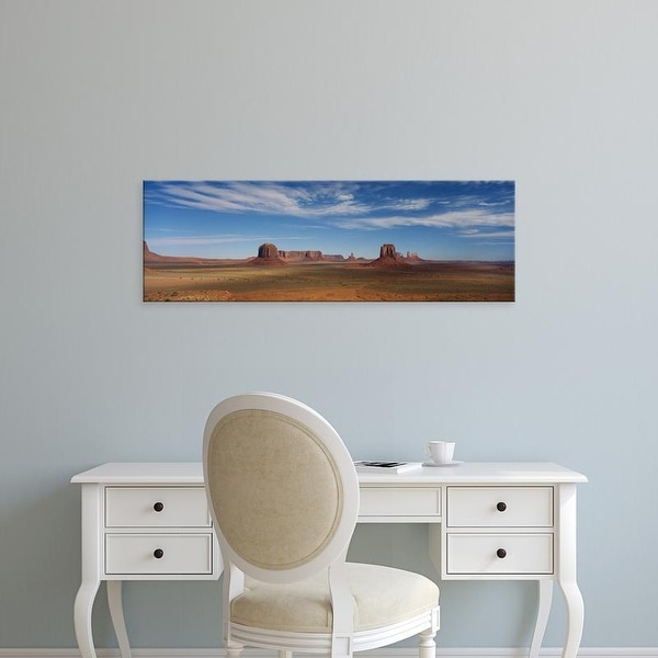 Easy Art Prints Panoramic Images's 'Rock formations in a desert, Monument Valley, Utah, USA' Premium Canvas Art