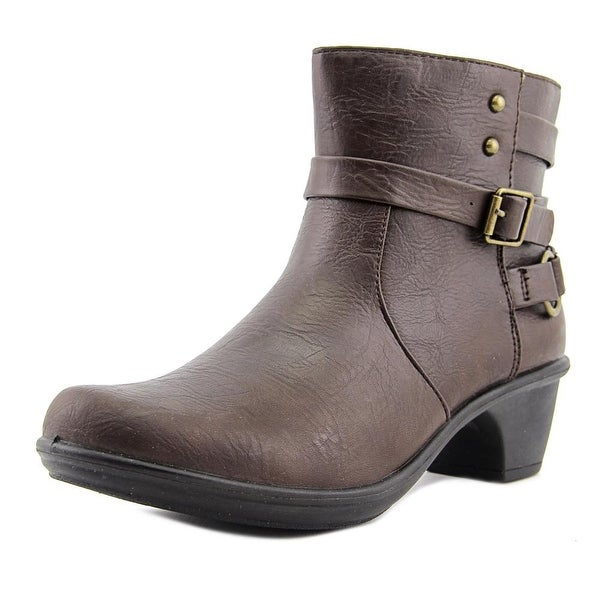 Easy Street Carson Women W Round Toe Synthetic Brown Ankle Boot