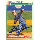 Brian Barnes Montreal Expos 1991 Score Rookie Prospect Autographed Card This item comes with a cer