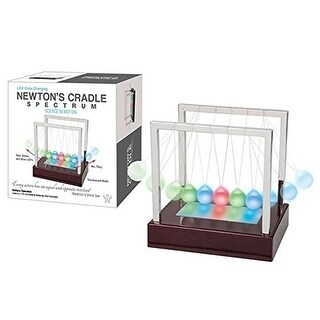 Westminster LED Color Changing Newton's Cradle Spectrum, Science In Mo