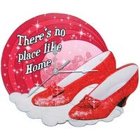 """Wizard of Oz Ruby Slippers 11.25 Wall Clock"""""""