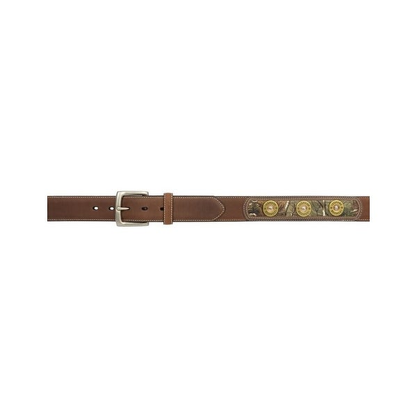 Badger Western Belt Mens Inlay Shotgun Realtree Dark Brown