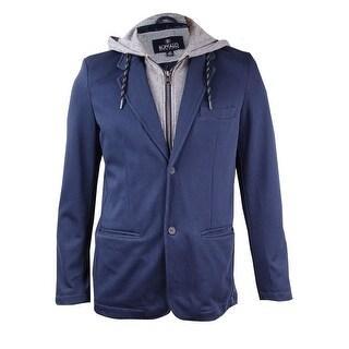 Buffalo David Bitton Men's Jiquirs Hooded Blazer (Midnight Blue, L) - L