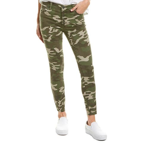 Kut From The Kloth Connie Olive High-Rise Ankle Skinny Leg