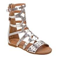 Nanette Lepore Girls' NL79226M Gladiator Sandal Silver