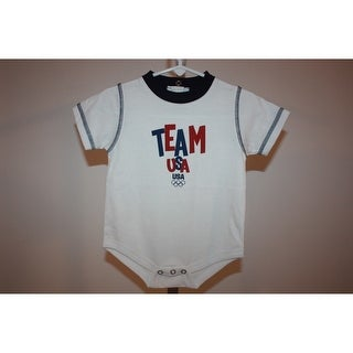 Mended- Team USA Olympics Infants 12 Months (12M) Cute White Bodysuit