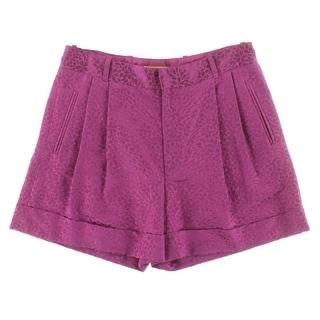 Catherine Malandrino Womens Silk Blend Jacquard Casual Shorts - 4