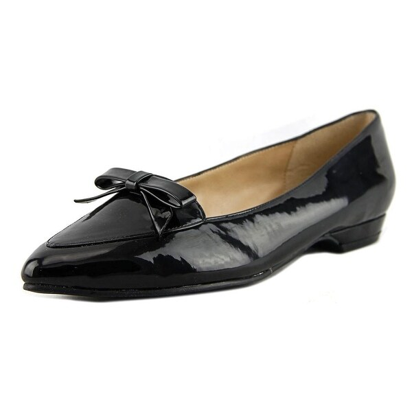 Ann Marino by Bettye Muller Sublime Women Pointed Toe Patent Leather Black Flats