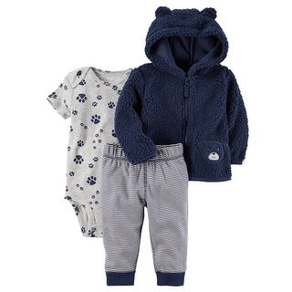 Carter's Baby Boys' 3-24 Months 3 Piece PAW Print Little Jacket Set, 6 Months