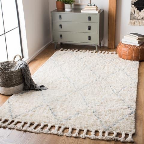 Safavieh Handmade Casablanca Shag Taake 1.4-inch Thick Wool Rug