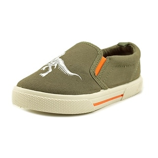 Carter's Damon4 Youth Round Toe Canvas Green Loafer