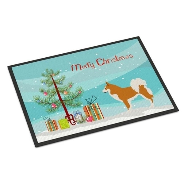 Carolines Treasures BB8502JMAT Icelandic Sheepdog Christmas Indoor or Outdoor Mat 24 x 36 in.
