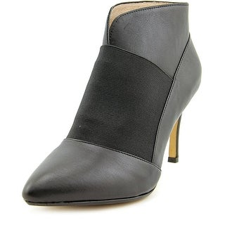 Nina Action Women Pointed Toe Leather Black Ankle Boot